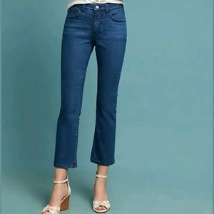 Anthro Pilcro Letterpress Jeans Cropped Blue High